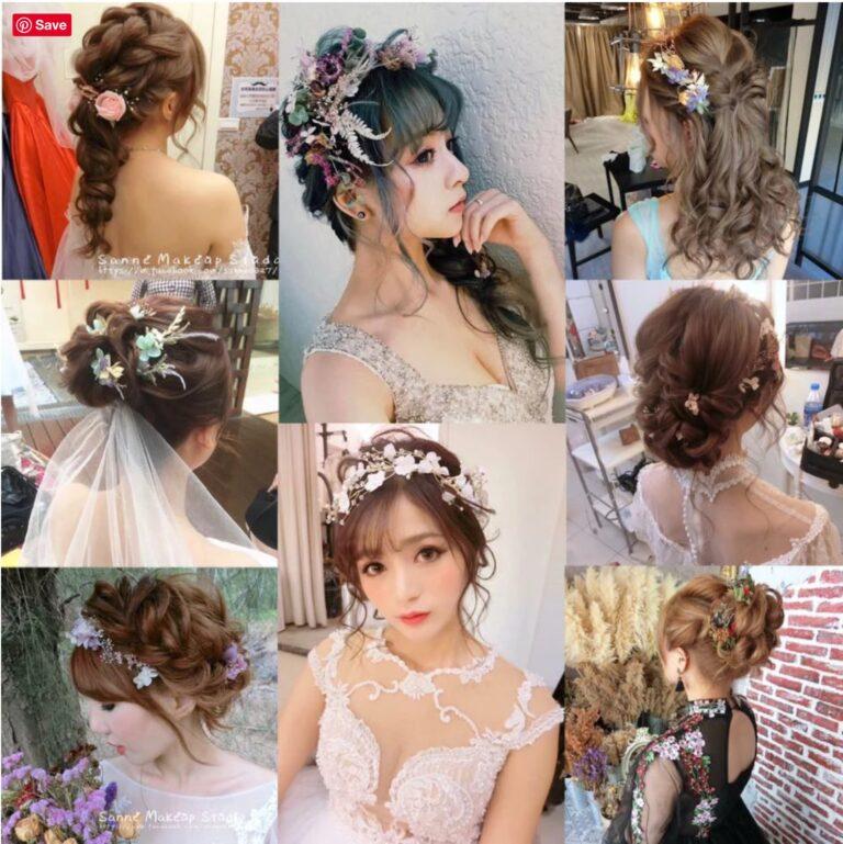 仙氣爆棚*乾燥花編髮全攻略|新娘結婚造型推薦|新娘必讀攻略
