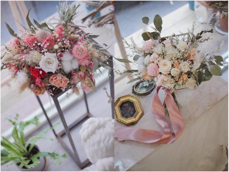 屬於迷人春季的~粉嫩感乾燥新娘捧花
