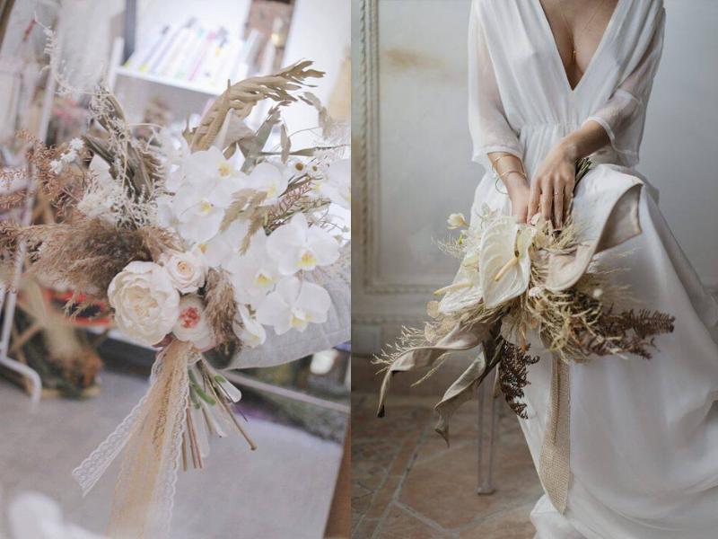 好受歐美新娘喜愛的~脫俗仙氣感蘭花捧花!