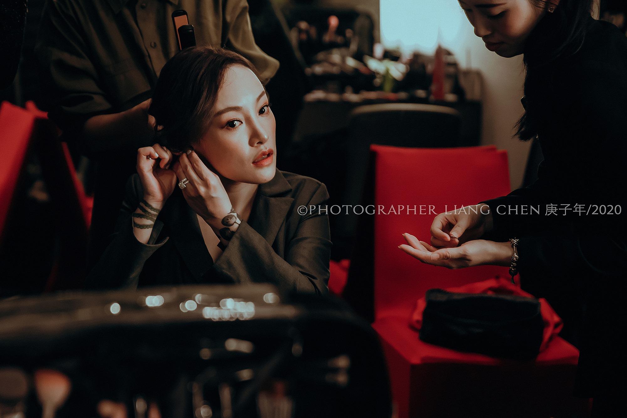 婚禮準備的側拍也充滿著復古感氛圍,圖片來源:良大Liang Chen攝影工作室