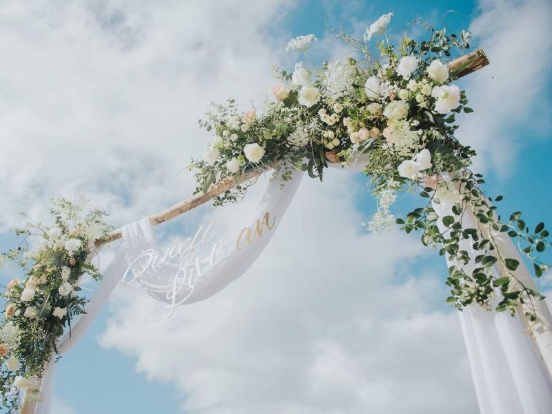 森林系婚禮背板