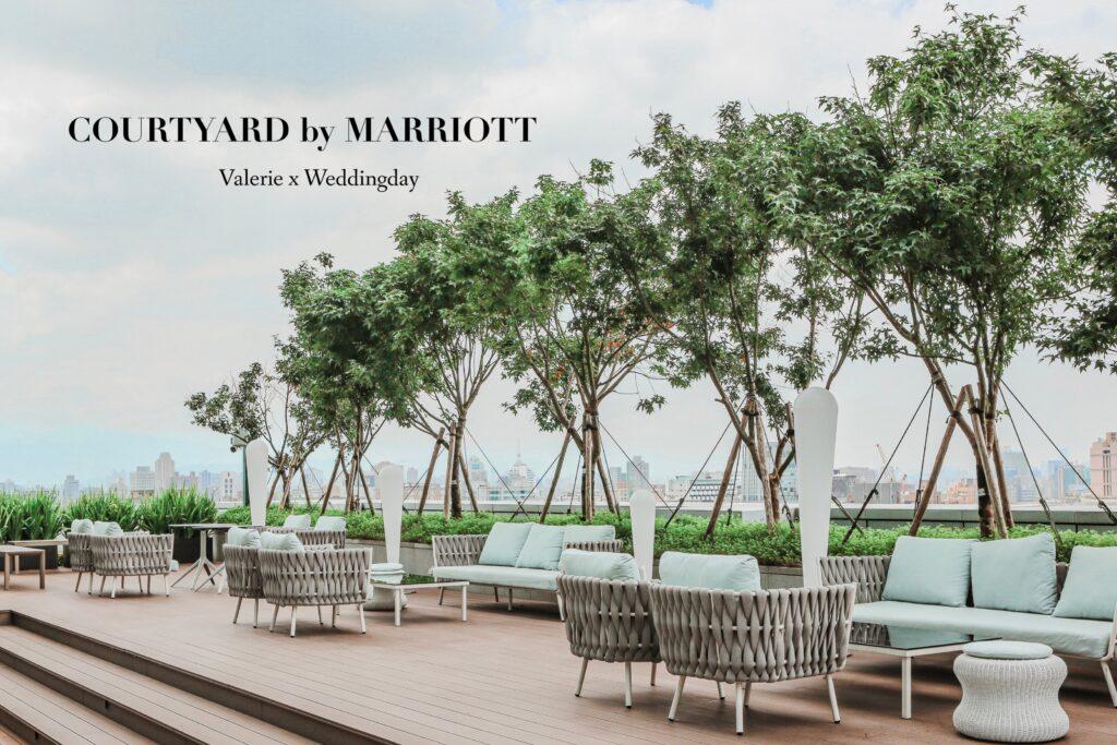 城市空中露台與飯店尊榮服務♪小桌數也能成行的時尚輕奢婚禮