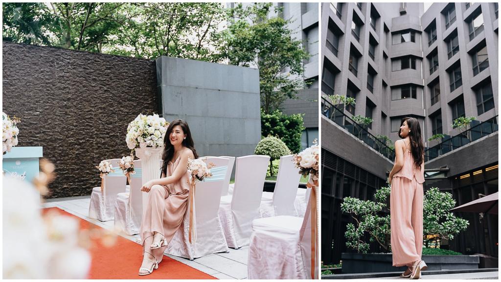 令人驚艷的婚宴菜色!簡約白色系婚禮,自然光宴會廳&戶外庭園證婚