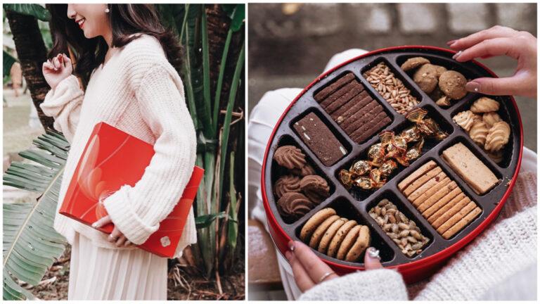 |雙雙|奇華餅家,金緣喜禮盒&日頭餅:港式手工餅乾、3種餅皮傳統漢餅,喜氣又豐富的經典喜餅