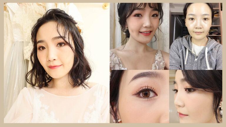 新秘試妝分享〰黑短髮也能完成的3個韓風新娘look🧸ft.點點造型團隊